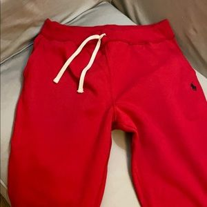 Men's Polo Red and Black Pony SweatPants
